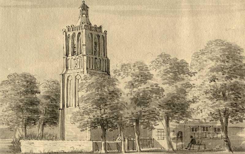 De kerk van Houten in 1729