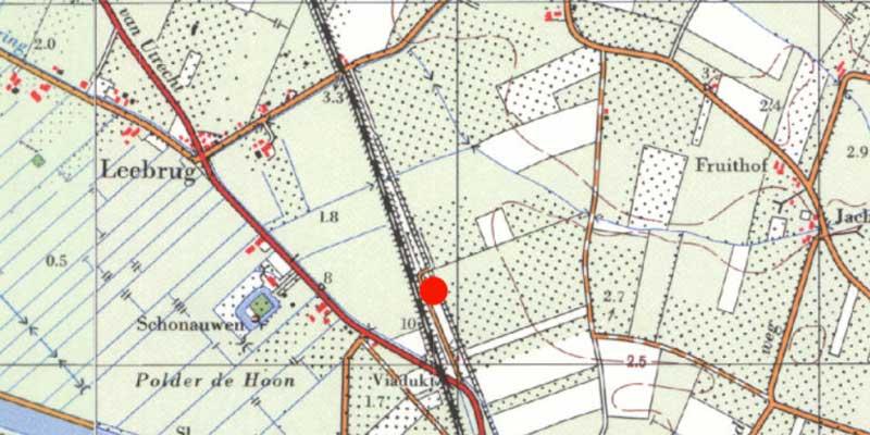 Locatie waar het lichaam van Arie Valk is gedumpt